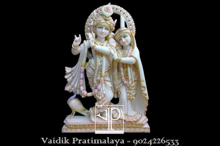 Buy Krishna Idol In White Makarana Krishna Murti Krishna Murti